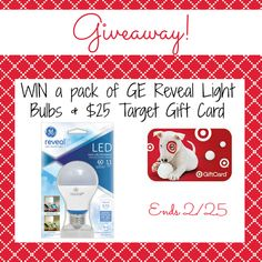 #Giveaway: Enter To #Win a $25 Gift Cad & GE Reveal Light Bulbs - Jenn's Blah Blah Blog - Travel, Recipes, Tech Talk, Giveaways and Sweepsta...