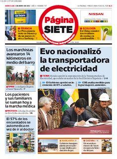 Portadas de España y Bolivia del 2 de mayo 2012 – Expropiación Red Eléctrica Española