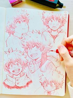 Oh my gosh these deku doodles My Hero Academia Memes, Hero Academia Characters, My Hero Academia Manga, Anime Drawings Sketches, Anime Sketch, Cute Drawings, Deku Anime, Character Art, Character Design