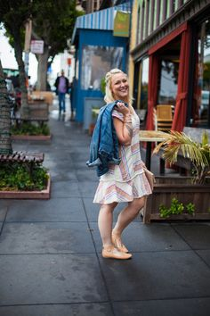 A birthday cake in a dress. This Anthropologie dress appears on Non Basic Blonde, a San Francisco fashion blog.