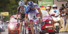Thibaut Pinot and Romain Bardet the fight offered yesterday a final sprint 100% French.
