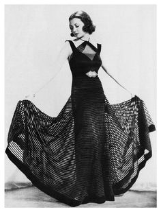 Sylvia Sidney in a Travis Banton gown; 1935......Uploaded By www.1stand2ndtimearound.etsy.com