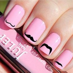 I mustache you a question... Do you like these nails?! ;)