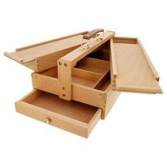 US Art Supply Large Multi-Function Wooden Artist Tool & Brush Storage Box Us Art Supply http://smile.amazon.com/dp/B015YL7YSK/ref=cm_sw_r_pi_dp_zMGowb1CTM89D