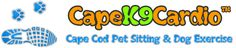 CapeK9Cardio Cape Cod Pet Sitting & Dog Exercise Services. There are a lot of Pet Sitters and Dog Walkers on Cape Cod, and they provide an important service to pet owners. We take the pet sitting business model to the next level by offering the running service too! This really separates us from the pack. Dog running clients come home happy and tired. A typical 30 minute run will burn about as much energy as a 2 1/2 hour walk!