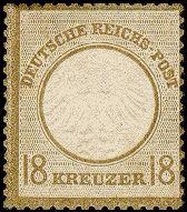 Briefmarke Brustschild 1872
