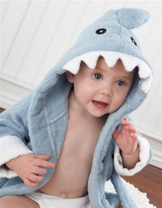 Terry Shark Robe - Let the Fin Begin....I can see my grandson in this!