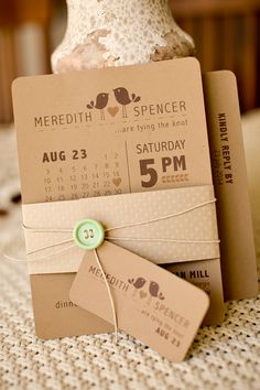 Cute birds and clean format #wedding #invitation
