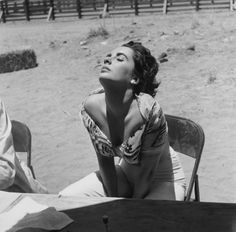 Elizabeth Taylor Sunning Herself, SID AVERY 1955 #Summer