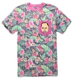 BNWT OFWGKTA Shirt Odd Future Earl Tyler Creator Pink Tropical Hawaiian NEW L