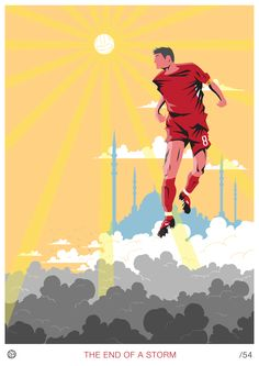 Great print of Steven Gerrard.
