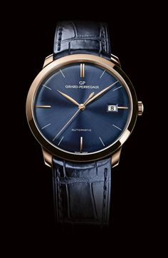 The Girard-Perregaux 1966 in Blue #watches #luxury #blue #gold #classic #elegant #switzerland #swisswatches