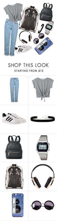 """90-е"" by elyagilyova on Polyvore featuring Topshop, WithChic, adidas, 2028, Street Level, Casio, Dorothy Perkins, Pryma, Kate Spade and Linda Farrow"