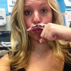 Mo Sista helping raise awareness. #movember