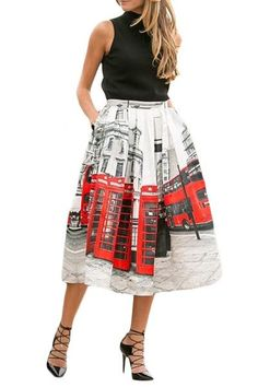 Chic Oh London Printed Pleated Midi Skirt Printed Maxi Skirts, Pleated Midi Skirt, Hot Outfits, Skirt Outfits, New Years Eve Outfits, Winter Skirt Outfit, Affordable Clothes, Skirt Fashion, Clothes For Women