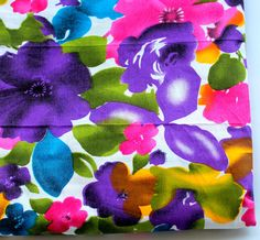 HALF YARD multi color big flower  Indian  by ChezviesSupplies, $2.50