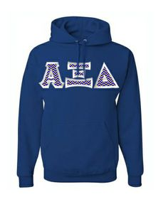 $40 Alpha Xi Delta Custom Twill  Hooded Sweatshirt #greekgear #sororityhoodie