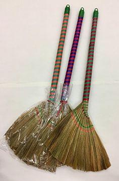 Natural raffia mini bundle for Straw brooms for crafts