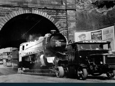 Pickfords hauling a loco under the forth and Clyde canal possibly Maryhill Road or Possil Road