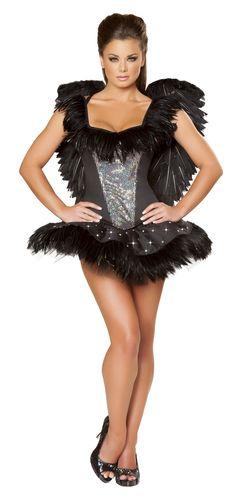 7b56fc8031 Roma Gothic Dark Angel Sexy Black Swan Costume Ballerina Halloween Costume