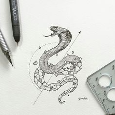 By @kerbyrosanes -  Geometric Beasts | Cobra  . Tag #designarf to featured!  #cobra #geometric #beast #draw #drawing #art #poster #design #designer #illustration #graphic #graphicdesign #vector #diamond #instagood #colorful #beautiful by designarf
