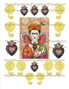 die 32 besten bilder von my frida kahlo shrines meine frida kahlo schrein by filzgood. Black Bedroom Furniture Sets. Home Design Ideas