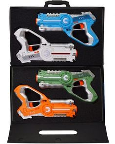 Dynasty Toys Laser Tag Set and Carrying Case for Kids Multiplayer 4 Pack for sale online