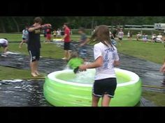ok another one not great for migrants but very fun! Kiddie Pool Kickball - YouTube