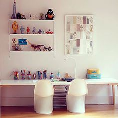 Big double desk for sharing with family and friends