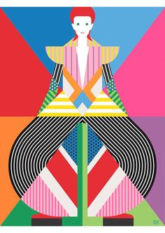 patternprints journal: BOLD COLORS AND GEOMETRIC PATTERNS INTO ARTWORKS BY CRAIG AND KARL