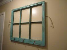 window pane with wall hooks - home decor