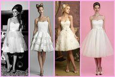 vestido de noiva curto tomara que caia