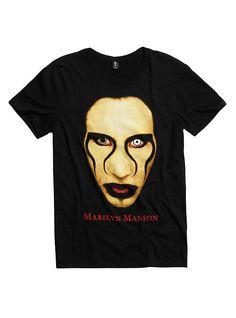 Marilyn Manson Close Up T-Shirt, BLACK