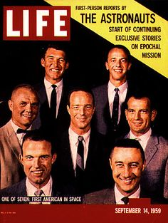 What Happened in the Year 1959 | 1959 LIFE Magazine cover featuring the seven original Mercury ...