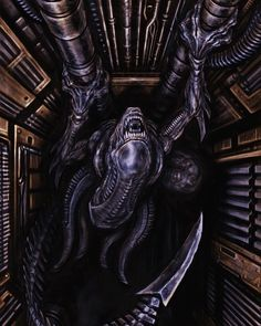 Alien Vs Predator, Predator Cosplay, Alien Film, Alien Art, Xenomorph, Arte Horror, Horror Art, Hr Giger Art, Aliens Colonial Marines