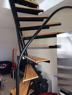 1m2 Staircase By Eestairs I Roof Terrace I Staircase Ideas Diy Modern Spiral Renovate Open Staircase Design Wooden Staircases Diy Staircase