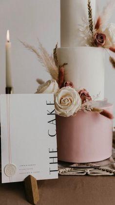 Wedding Signage, Wedding Menu, Our Wedding, Wedding Planning, Dream Wedding, Wedding Invitations, Wedding Ideas, Blush Wedding Cakes, Elegant Wedding Cakes