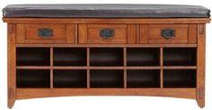 "Artisan Bench With Shoe Storage, 42Wx16Dx20H"", LIGHT OAK:Amazon:Home & Kitchen"