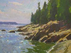 Maine Shoreline 18x24sm colin page