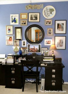 Use a large item, like a mirror, as the centerpiece of your gallery | 32 Creative Gallery Wall Ideas To Transform Any Room