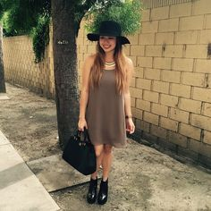 @Cteeners is wearing the #FevrieFashion Shift Dress in brindle!