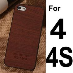 For iPhone Hard Case for iPhone 5S 5 & 4s Fashion Wood Grain SLIM Mobile Phone Shell Cover Cases