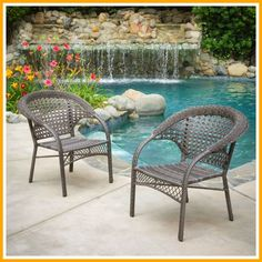 Discover the best wicker chairs for your home. We have outdoor wicker chairs, wicker dining chairs, and more so you can complete your dining set. Wicker Patio Furniture Sets, Outdoor Wicker Furniture, Patio Chairs, Outdoor Chairs, Outdoor Decor, Deck Patio, Furniture Chairs, Outdoor Glider, Wicker Couch