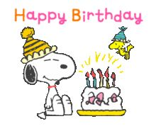 Watch and share Birthday GIFs on Gfycat Happy Birthday Snoopy Images, Peanuts Happy Birthday, Happy Birthday Art, Birthday Animated Gif, Snoopy Gifts, Snoopy Und Woodstock, Snoopy Pictures, Snoopy Quotes, Snoopy Christmas