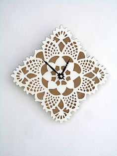 square doily clock | uncommonhandmade.com | this entire site is amazing!