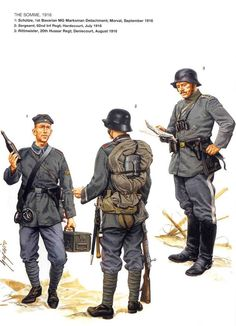German uniforms WWI, the Somme (1916).