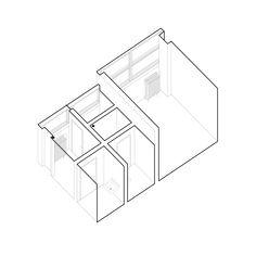 #architecture #interiorspace #bathroomdesign #interiorlovers #axonometric  #aplusnoima Boy Girl Bathrooms, Boy Or Girl, Architecture, Arquitetura, Architecture Illustrations, Architects