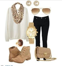 Casual and chic for a winter day!!