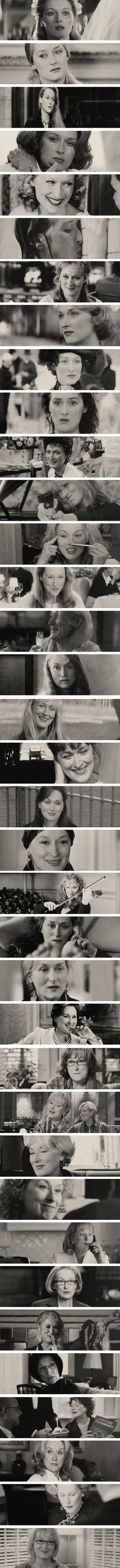 Que gran artista es está espectacular mujer Meryl Streep, multifacética, profesional, gran actriz, única, en pocas palabras LA MEJOR.  #MerylStreep.
