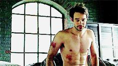 "I'm a little worried by how attracted I now am to injured ab lounging. | 16 Times You Couldn't Contain Your Thirst For ""Daredevil""s Matt Murdock"